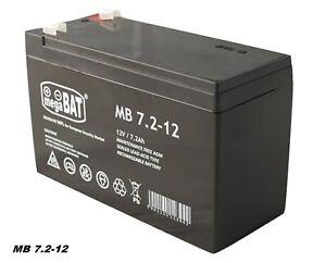 MegaBAT AGM USV Batterie MB-7.2-12 VRLA 12V 7,2Ah Notstromanlage wartungsfrei