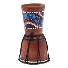 1X(IRIN 1 Pc 4 inch Professional Djembe African Drum Bongo Wood Good Sound B8M3