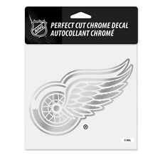 "Detroit Red Wings 6""x6"" Chrome Auto Decal [NEW] NHL Car Emblem Sticker Wincraft"
