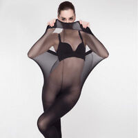 Women Sexy Bodyhose Pantyhose Tights Sick Lingerie Holds Black/Skin NEW
