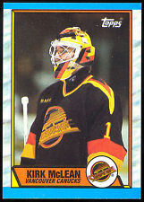 1989 90 TOPPS HOCKEY #61 KIRK McLEAN RC NM-MINT VANCOUVER CANUCKS ROOKIE CARD