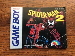 Spiderman 2 Spider Man II Original Nintendo Gameboy Instruction Manual Only