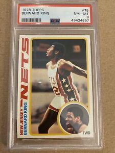 Bernard King 1978 Topps #75 Rookie PSA 8 HOF Rc New Jersey Nets