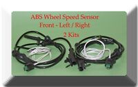 2 ABS Wheel Speed Sensor W/ Connector Front Left & Right Fits:G25 G35 G37 370Z