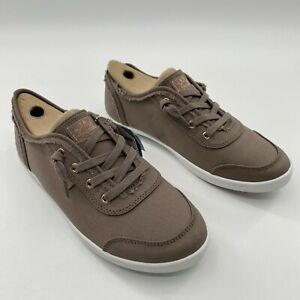 Skechers BOBS B Cute Sneakers Slip-on Shoe Taupe Brown Canvas 33492-TPE Size 8.5
