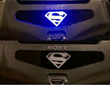 2x Superman PS4 PlayStation Controller LED Light Bar Decal Stickers VS Batman