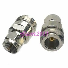 1pce Adapter Connector N female jack to F TV male plug for TV antenna