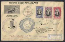 TONGA 1938 NIVA FOOU REG FDC OF Q ACCESSION OCT 11 1938 SG 71-73 GIBBONS 1st DAY