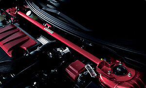 MITSUBISHI LANCER EVOLUTION EVO X STRUT TOWER BRACE IN ANODIZED RED