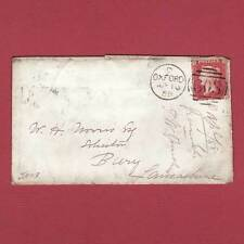 GB QV 1857 1d ROSE-RED PLATE 45 (SG40) 'KJ' PU ON COVER, OXFORD TO BURY