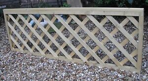 Heavy Duty Wooden Trellis Panels 6 x 2 Green Treated