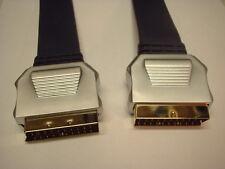 Cable plano SCART plomo Chapado en Oro Metal caso 1.5m OFC