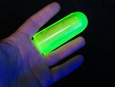 Uranium GLASS - Black Light GLOW in DARK - GUITAR FINGER SLIDE -VASELINE GLASS