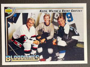 1992-93 Upper Deck Hockey - #37 Keith, Wayne & Brent Gretzky - Bloodlines