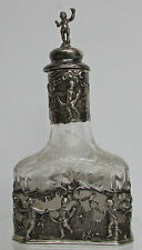 DELIGHTFULLY OLD DANCING PUTTI GERMAN SILVER COLOGNE BOTTLE