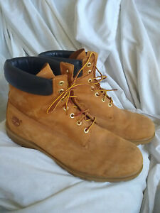 TIMBERLAND MENS LEATHER ANKLE WORK BOOTS, SIZE 15M