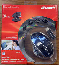 Microsoft 2.4GHz Wireless Rechargeable Laser Mouse 7000 Black