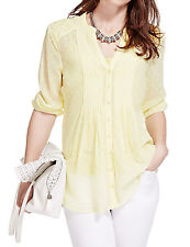 NEW 12 Marks & Spencer PER UNA 3/4 SLEEVE LIME GREEN SPOTTED TUNIC TOP & CAMI