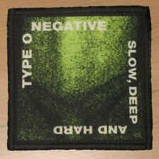 """TYPE O NEGATIVE """"SLOW, DEEP AND HARD"""" silk screen PATCH"""