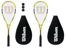 2 x Wilson Ripper 135 BLX Yellow Squash Rackets + Cover + 3 Balls RRP £315