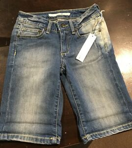 JOE'S Girls Kids Denim Jean Shorts Med Wash Blue Size 10  NWT Cotton Blend