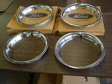 """NOS OEM Ford 1966 Mustang + Fairlane Styled Steel Wheel Trim Rings GT 14"""""""
