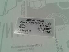 Nota escudo bujías AMG w124 s124 w202 e36 c36 g36 m104 sticker Spark Plugs