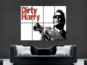 Dirty Harry Classic Vintage Movie Poster ArtA5 A4 A3 A2 A1