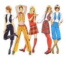 Vtg 70s Simplicity 9566 Junior Teen Hip Hugger Pants Knickers Skirt Bolero 9/10
