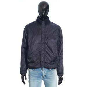 DIOR 3100$ Reversible Dior Oblique Jacket Navy Blue Wool Fleece/Technical Fabric