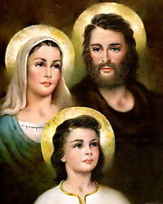8x10 Print Christian Catholic Bible Portrait Holy Family Mary Joseph Young Jesus