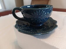 Ceramic Bandana 4 Serving Coffee/Tea Set with Stand