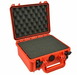 Waterproof Action Camera Case with Foam Orange for Gopro Sony Garmin Veho  SJcam