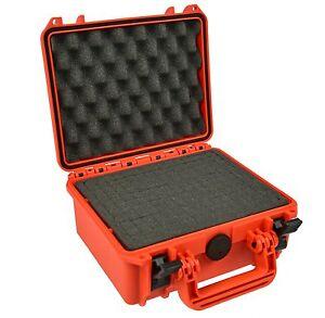 Waterproof Action Camera Case with Foam Orange for Gopro Sony Garmin Veho  SJcam