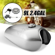 Universal Motorcycle 9L 2.4 GAL Vintage Fuel Gas Tank For Honda CG125 Cafe Racer