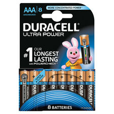 8 x Duracell AAA Ultra Power Alkaline Batteries - LR03, MX2400, MN2400, MICRO.