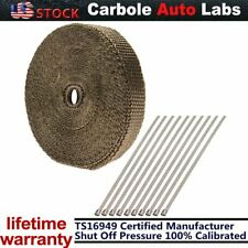 """1"""" 50' New Roll Titanium Manifold Exhaust Wrap Header Pipe Heat Insulation Tapes"""