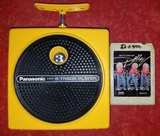 panasonic tnt 8 track player yellow used