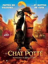Affiche 120x160cm LE CHAT POTTÉ (2011) Chris Miller - Film d'animation NEUVE