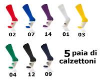 5 PAIA DI CALZE CALZINO CALZETTONI ERREA  SPORT CALCIO CALCETTO RUGBY VOLLEY