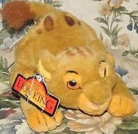 "Disney Store Lion King Pouncing Prouncing Simba Cub 8"" Plush 1994 NEW NWT Toy"