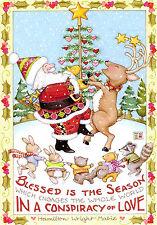 Mary Engelbreit-Blessed Is The Season World Love-Sunrise Christmas Card-New!