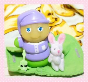 ❤️Vtg Hasbro Playskool Glo Friends Glo WORM Glow Bug Figure Sleeping Bag❤️