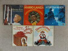 """Christmas Records 12"""" Vinyl LPs Albums Vintage Bundle Job Lot Perry Como Mario L"""