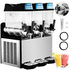 Vevor Commercial Frozen Drink Slush Machine 3 X 12l Margarita Maker 36l 3 Tanks