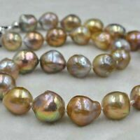 AA Natural rare color shape 10-16mm kasumi FW pearl necklaces