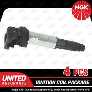4 x NGK Ignition Coils Pack for BMW 1 3 Series E87 E46 E90 E91 X1 E84 4Cyl
