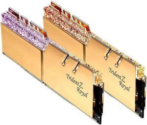 ✔ G.SKILL TridentZ Royal GOLD 16GB (2x8GB) 3600 *16-16-16-36* DDR4 28800 *B-Die*