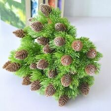 Artificial Plastic Pine Nuts Cones Fake Plants Tree Christmas Party Home Decor