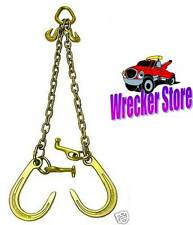 G70 WRECKER TOW TRUCK V CHAIN with J & T Hook for Rollback, Car Carrier, Hauler